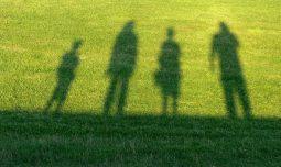 foto familie schaduw
